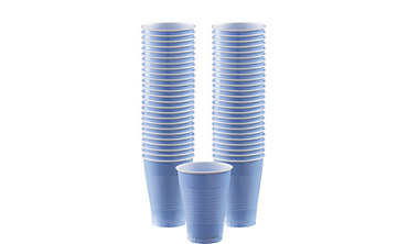 Pastel Blue Plastic Cups 12oz 50ct