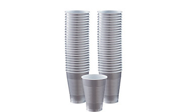 Silver Plastic Cups 12oz 50ct
