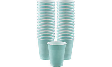 Robin's Egg Blue Plastic Cups 16oz 50ct