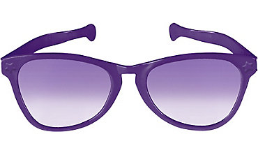 Purple Giant Fun Glasses 11in