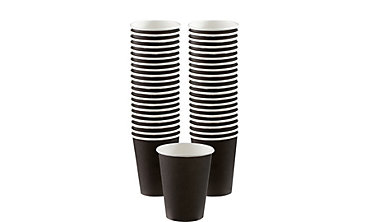 Black Paper Coffee Cups 12oz 40ct