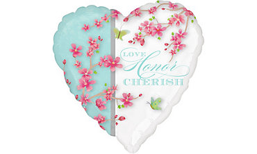 Foil Cherry Blossom Balloon 32in