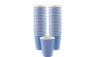 Pastel Blue Paper Coffee Cups 40ct