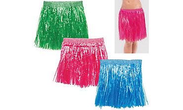 Adult Hula Skirts 3ct