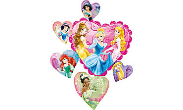 Foil Hearts Disney Princess Balloon 34in x 26in