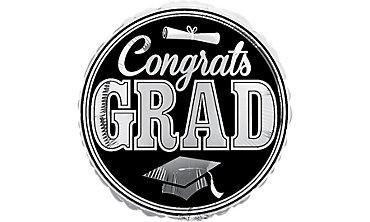 Foil Silver Congrats Grad Balloon