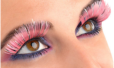 Electric Party Pink and Silver Lashes