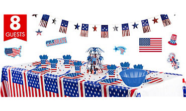 American Flag Super Party Kit