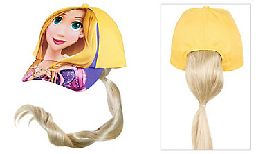 Child Rapunzel Baseball Hat with Ponytail
