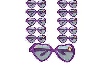 Sofia the First Glitter Heart Glasses 24ct
