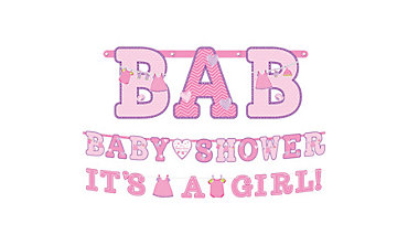 Girl Baby Shower Banners 2ct - Shower With Love