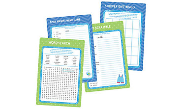 Boy Baby Shower Game Kit for 20 - Shower With Love
