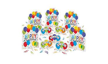 Rainbow Balloon Bash Birthday Table Decorating Kit 11pc