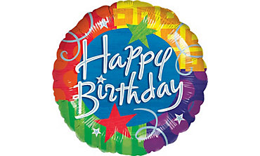 Foil Blitz Happy Birthday Balloon 32in