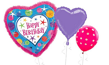 Boa Heart Happy Birthday Balloons