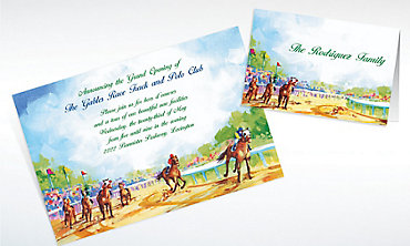 Custom At the Races Invitations & Thank You Notes