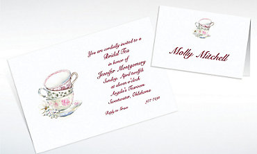 Custom China Teacups Bridal Shower Invitations & Thank You Notes