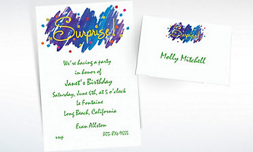 Custom Surprise! Invitations & Thank You Notes