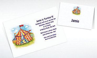 Custom Circus Tent Invitations & Thank You Notes