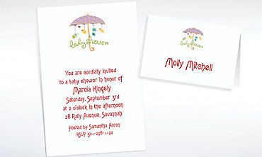 Custom Baby Shower Umbrella Baby Shower Invitations & Thank You Notes