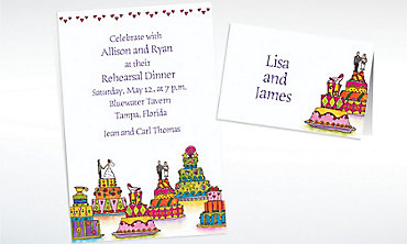 Custom Wacky Wedding Cakes Wedding Invitations & Thank You Notes