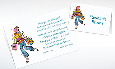 Custom Shop 'til You Drop Bridal Shower Invitations & Thank You Notes