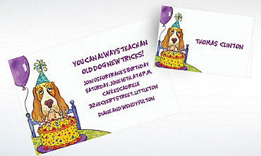 Custom Dog Years Birthday Invitations & Thank You Notes