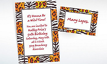 Custom Wild Things Checks Invitations & Thank You Notes