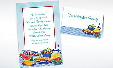 Custom Summer Picnic Invitations & Thank You Notes