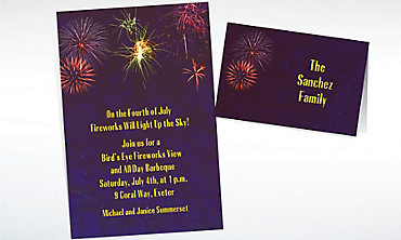 Custom Fireworks Invitations & Thank You Notes