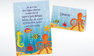 Custom Under the Ocean Invitations & Thank You Notes