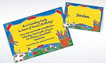 Custom Artists' Party Invitations & Thank You Notes