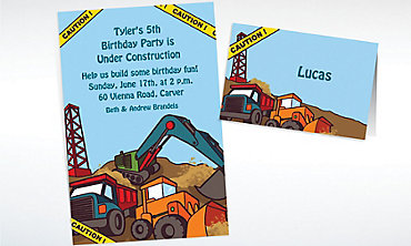 Custom Construction Site Invitations & Thank You Notes