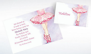 Custom Little Ballerina Invitations & Thank You Notes