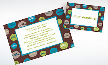 Custom Shhh Bubbles Surprise Party Invitations & Thank You Notes