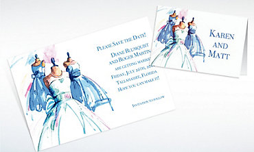 Custom Bride & Maids Gowns Wedding Invitations & Thank You Notes
