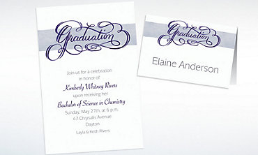 Custom Calligraphic Graduation Invitations & Thank You Notes