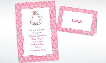 Custom Cute Baptism Gown Invitations & Thank You Notes