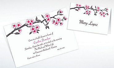 Custom Blooming Branches Invitations & Thank You Notes
