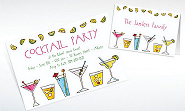 Custom Mixed Drinks Invitations & Thank You Notes
