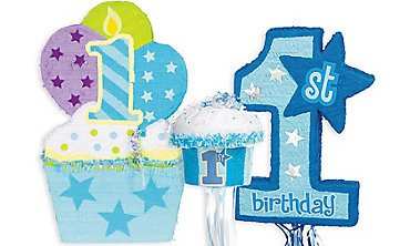Boys 1st Birthday Pinatas