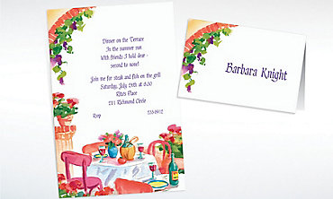 Custom Italian Cafe Invitations & Thank You Notes