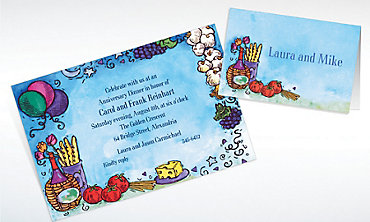 Custom Italian Dinner Party Invitations & Thank You Notes