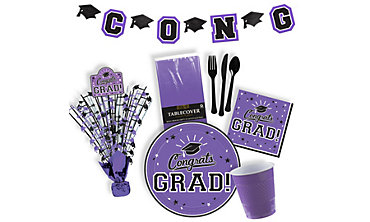 Purple Graduation Party Supplies