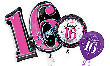 Sweet 16 Birthday Balloons