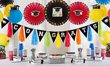Multicolor Graduation Decorations