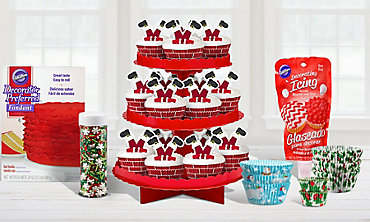 Christmas Cake & Cupcake Baking Supplies