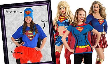 Supergirl Mix & Match Women's Looks - Superman