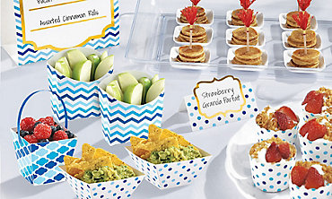Blue Mini Tasting Party Supplies