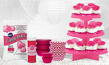 Bright Pink Baking Supplies